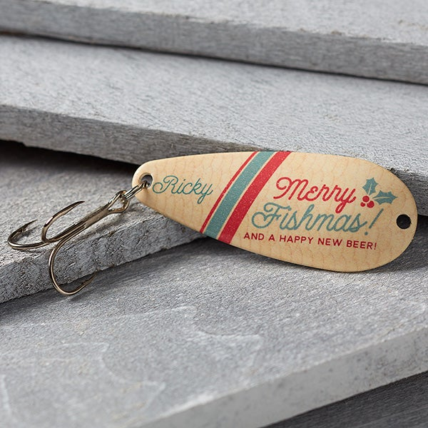 Merry Fishmas Personalized Fishing Lure