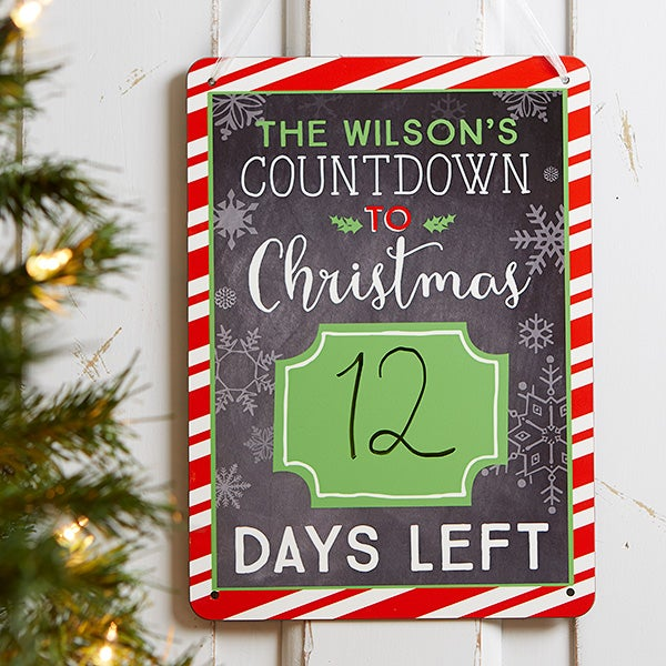 Christmas Count Down.Christmas Countdown Personalized Dry Erase Sign