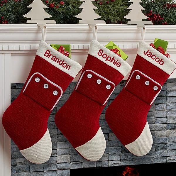 Family Christmas Stockings.Family Christmas Pjs Personalized Stocking