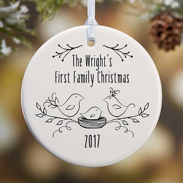 Personalized Christmas Famliy Ornament - Our First Family Christmas - 16295 - Personalized Christmas Famliy Ornament - Our First Family Christmas