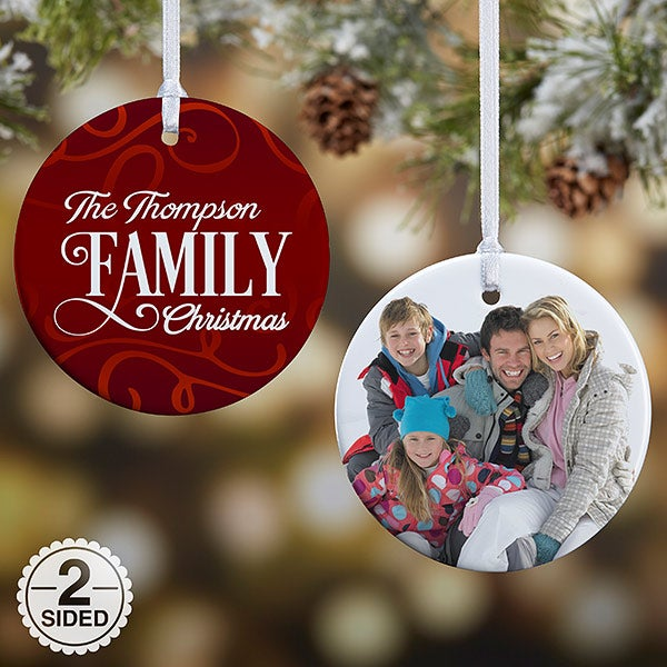 Personalized Family Photo Ornament - Family Christmas - 16296