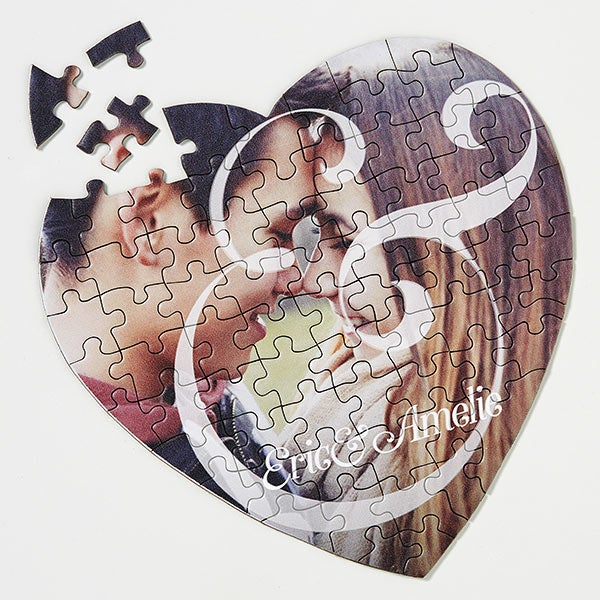 You & I Personalized Photo Heart Puzzle