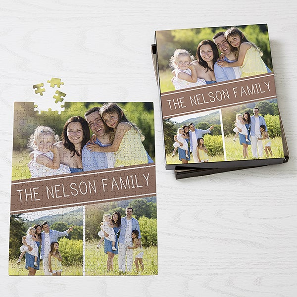 Personalized Photo Collage Puzzle - Family Photo Collage - 16319