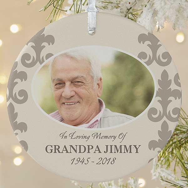 Custom Photo Memorial Ornament In Loving Memory Christmas Clearance