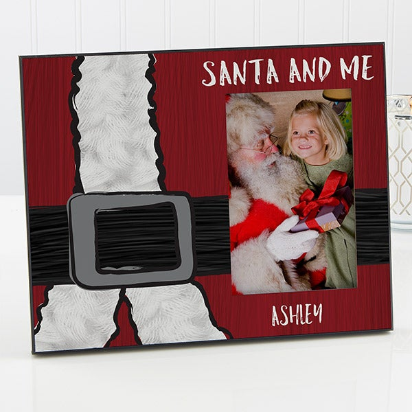 Personalized Christmas Picture Frame - Santa & Me - 16365