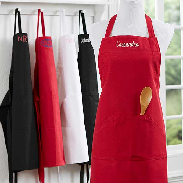 Embroidered Kitchen Apron - 16384