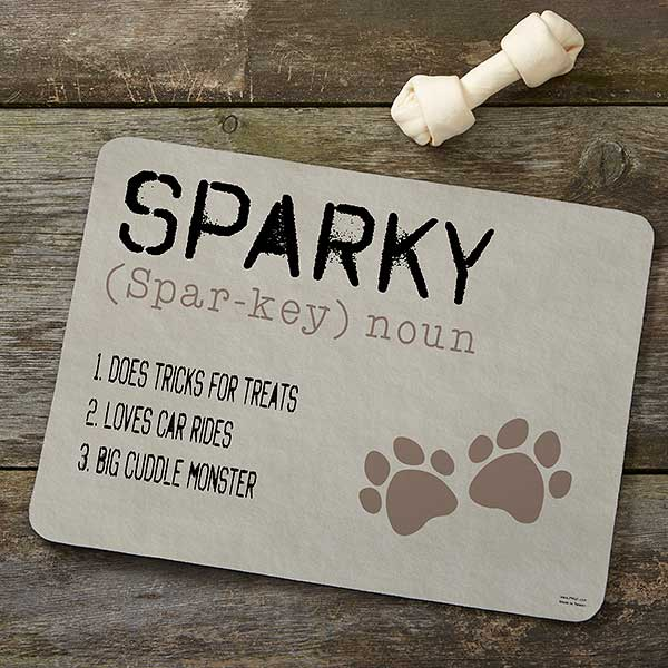 Personalized Dog Food Mat - Definition Of My Dog - 16406