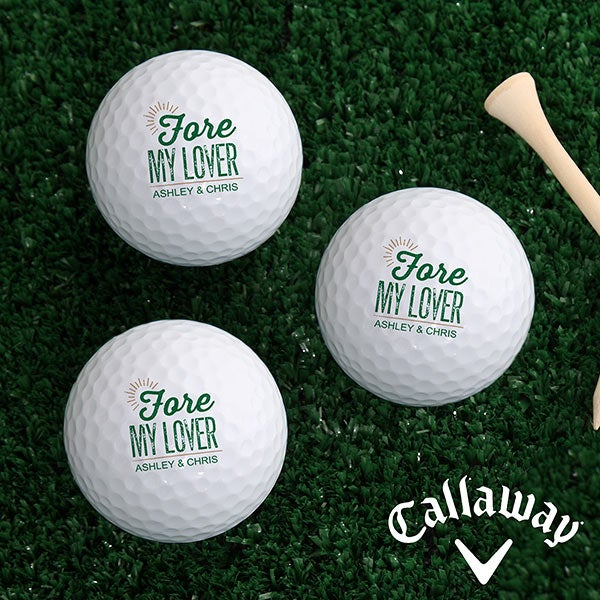 Personalized Romantic Golf Ball Set - For My Sweetheart - 16427