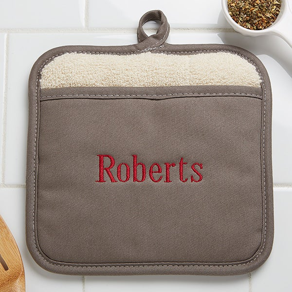 Personalized Pot Holder Mitts - 16436