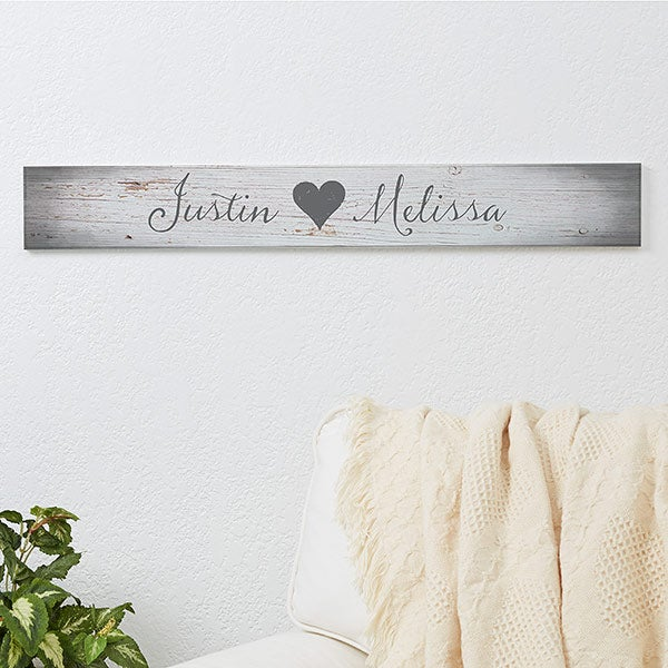 Personalized Couples Romantic Wood Signs - Me and You - 16437