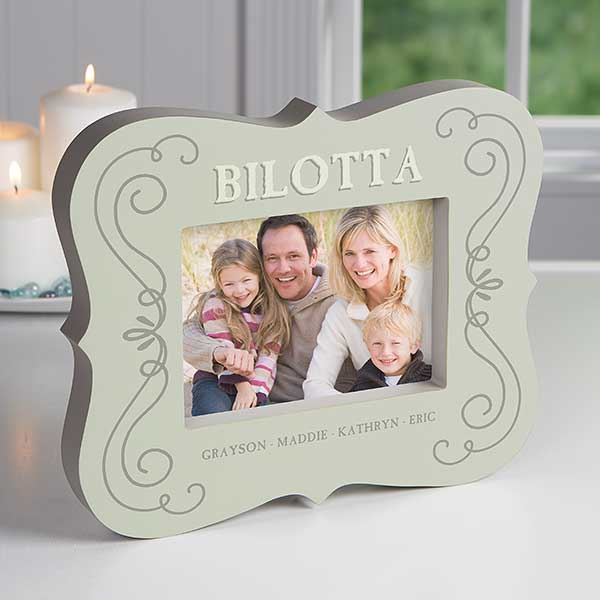 Joy of Family Personalized 5x7 Picture Frame Block - 16446