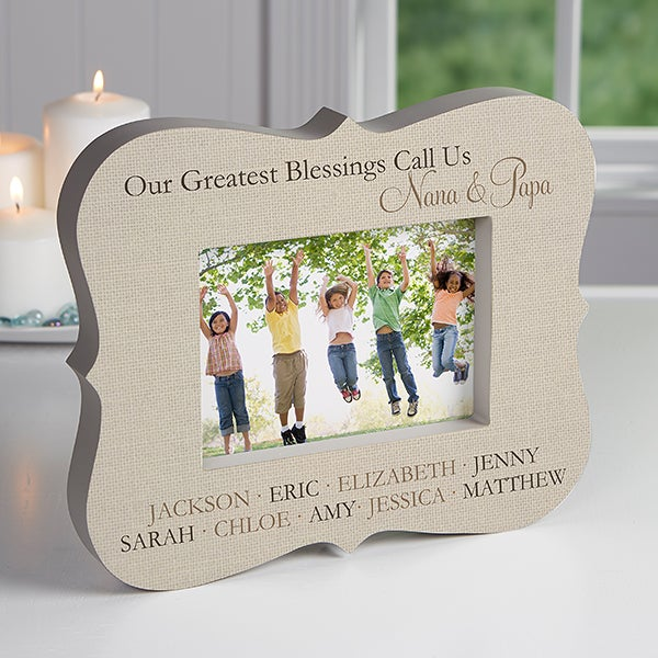 Personalized Grandkids Picture Frame Block