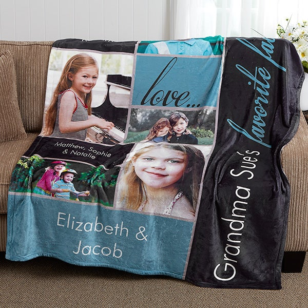 Personalized Photo Blankets - My Favorite Faces - 16467