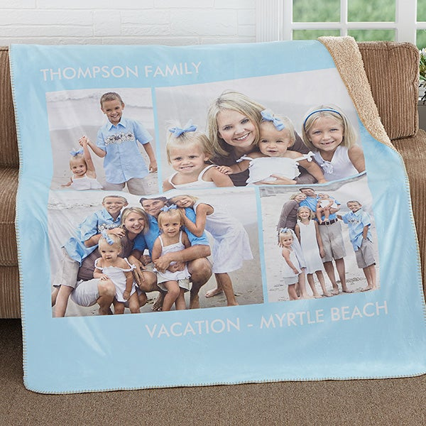 Personalized Photo Premium Sherpa Blanket - Picture Perfect - 16487