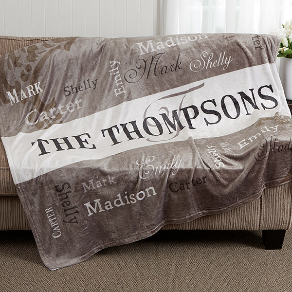 Personalized Family Blankets - Our Loving Family - 16488