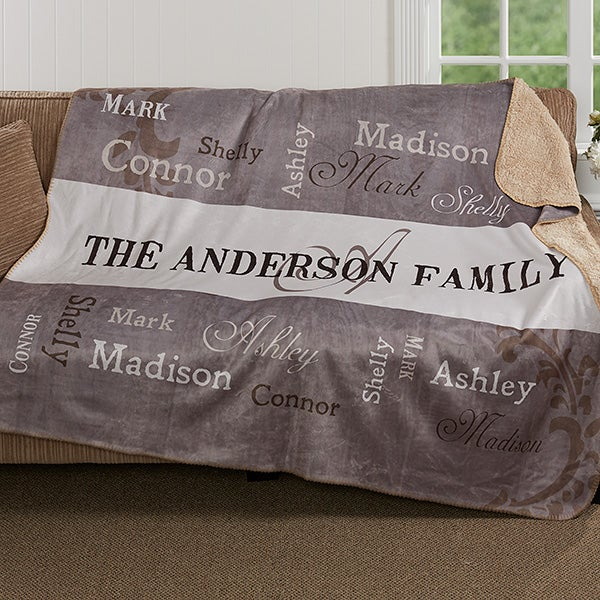 Personalized Blankets 50x60 Custom Family Blanket