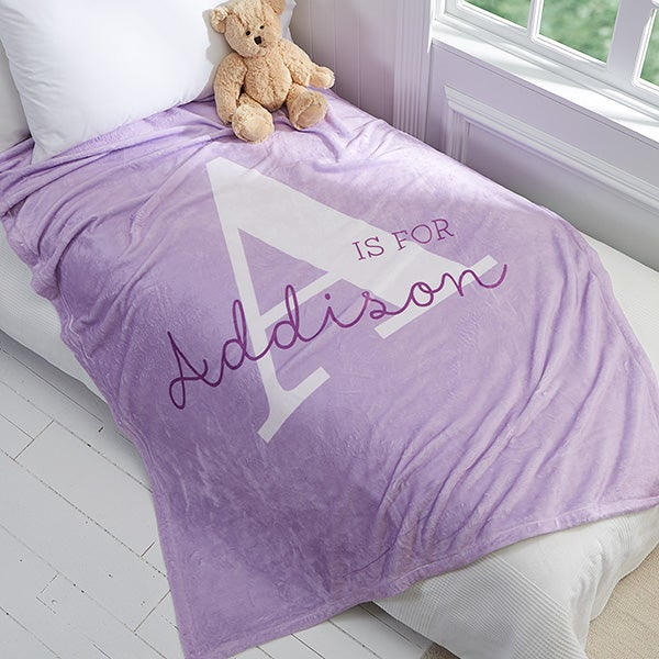 Personalized Kid Fleece Blankets - Alphabet Fun - 16492