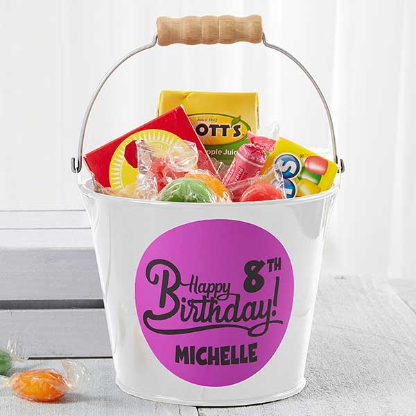 Personalized Birthday Mini Metal Bucket