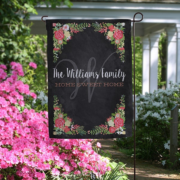 Personalized Garden Flag - Posh Floral Design - 16516