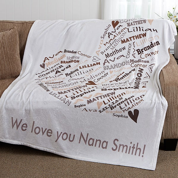 Personalized Blankets For Mom & Grandma - Her Heart of Love - 16523