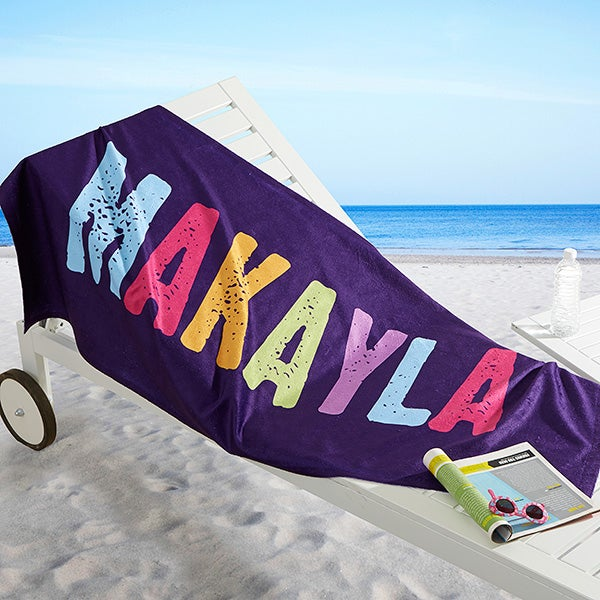 Personalized Kids Beach Towel - All Mine! - 16528
