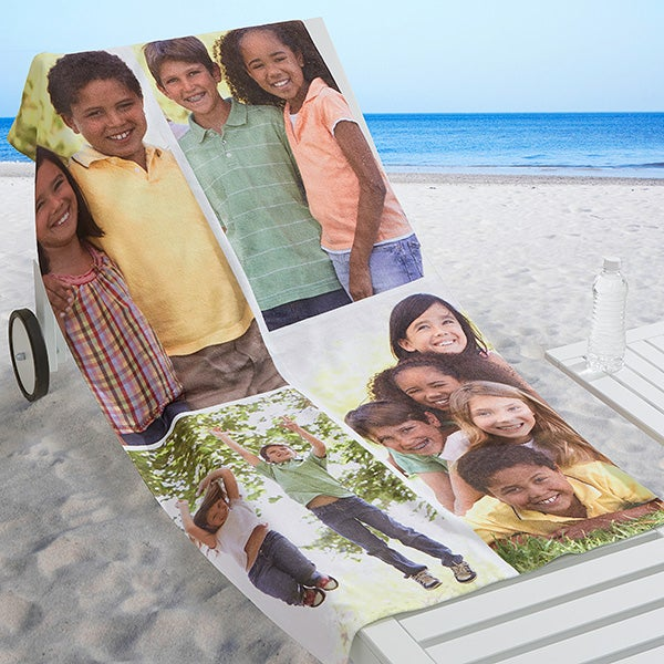 Personalized Photo Beach Towel - Photo Collage - 16537