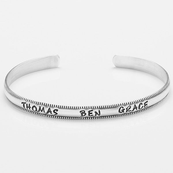Personalized Name Sterling Silver Cuff Bracelet - 16546D