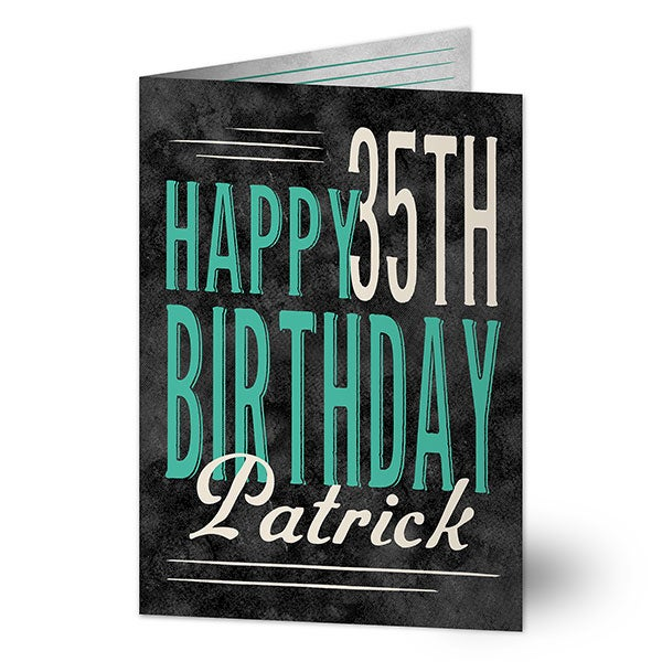 Personalized Birthday Greeting Cards - Vintage Age - 16565