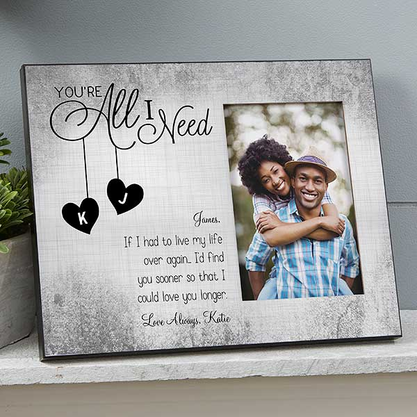 "Personalised Silver Photo Album Frame 4 x 6/"" Engraved Gifts With Any Message"