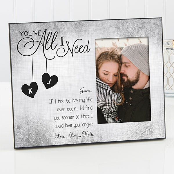 Personalized Romantic Picture Frames for Couples - 16575