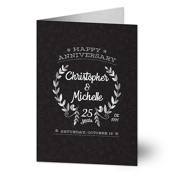 Personalized Greeting Cards - Happy Anniversary - 16589
