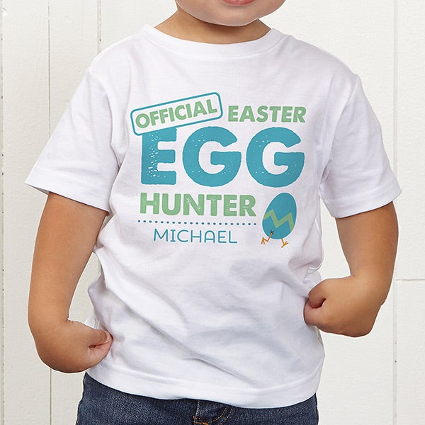 41ceb4a76 Personalized Easter Kids Apparel - Easter Egg Hunter - Toddler T ...