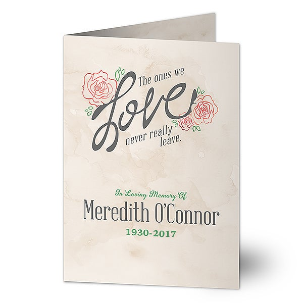 Memorial Personalized Greeting Card - The Ones We Love - 16609