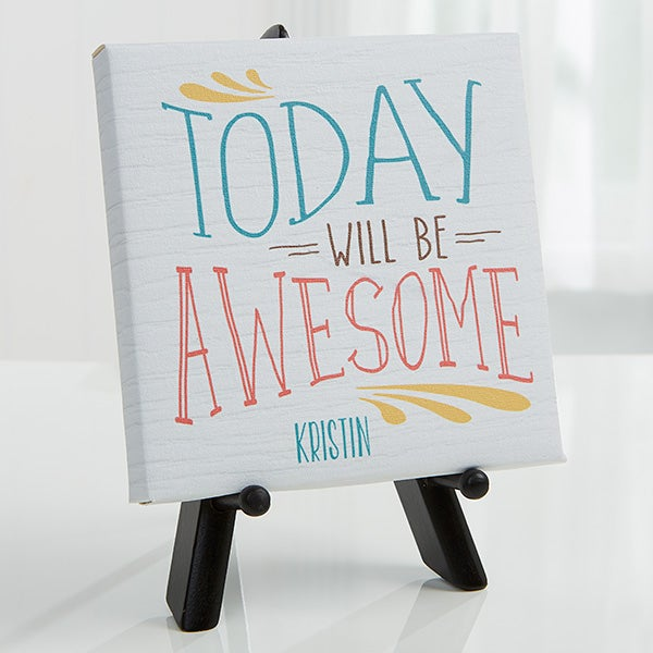 Personalized Tabletop Canvas Prints - Daily Inspiration - 16631