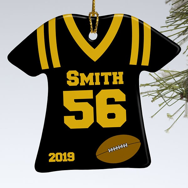 Personalized Sports Christmas Ornaments Football Jersey