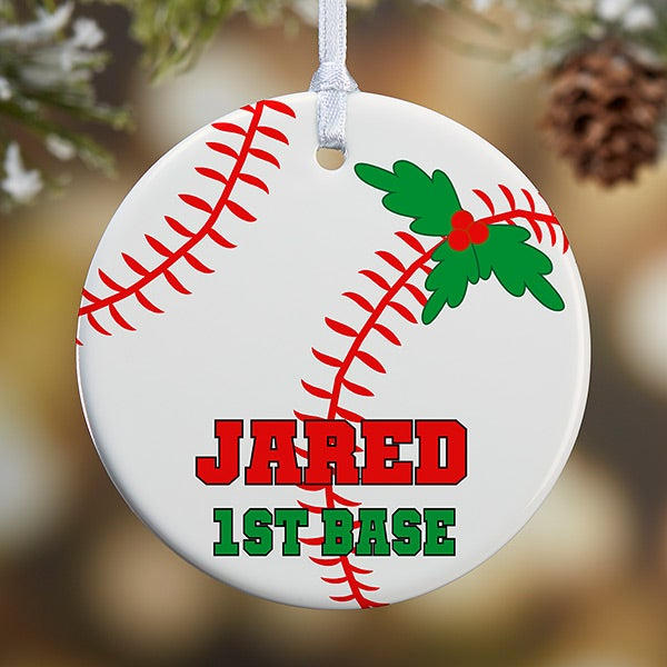 Personalized Baseball Christmas Ornaments - 16665
