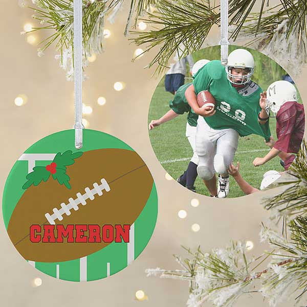 Personalized Football Photo Ornament