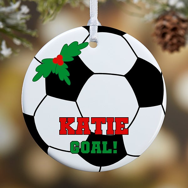Personalized Soccer Christmas Ornaments - 16670 - Personalized Soccer Christmas Ornaments