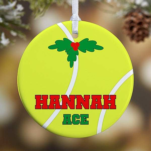 Personalized Tennis Christmas Ornaments - 16671