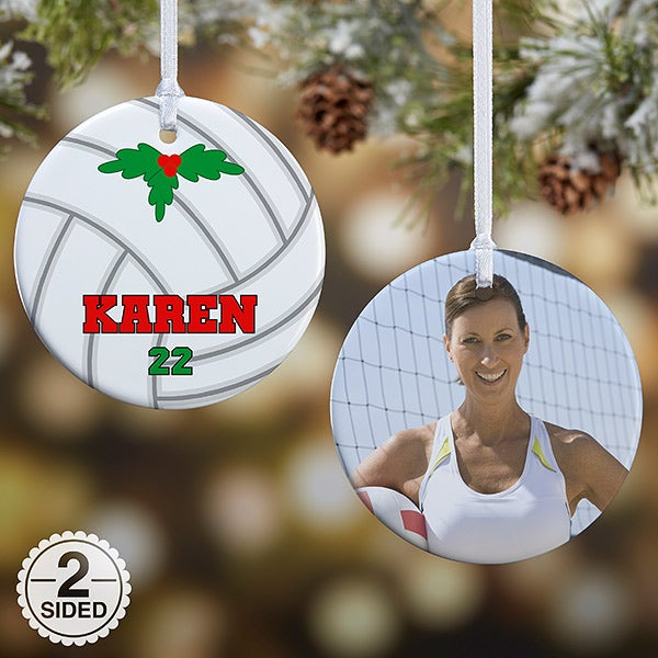 Personalized Volleyball Christmas Ornaments - 16672