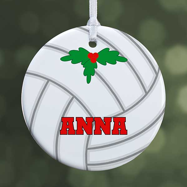 Personalized Volleyball Christmas Ornament One Sided