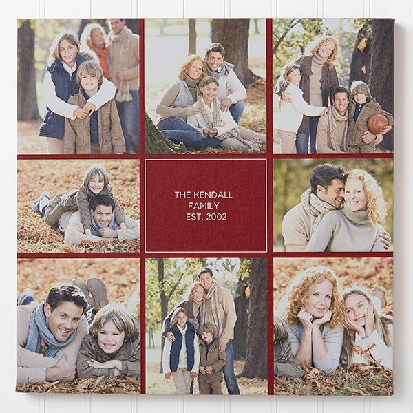 Personalized Photo Canvas Print - Family Photo Montage - 16675