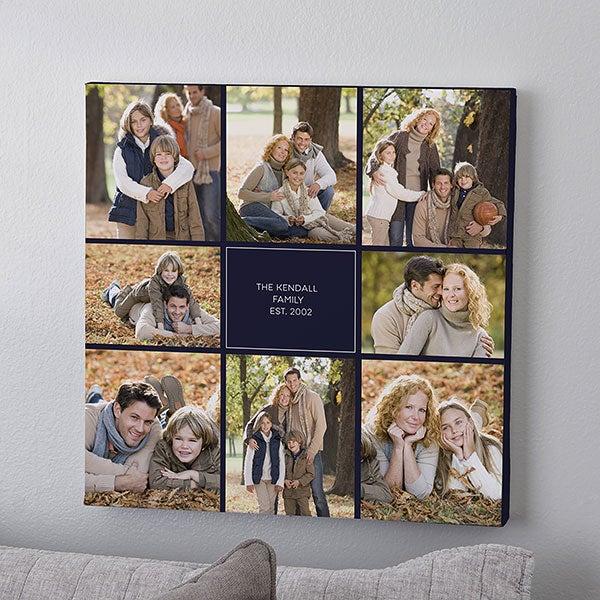 12x12 Photo Canvas Print Family Photo Montage Photo Gifts