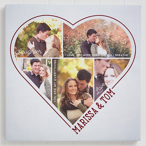 Personalized Photo Canvas Prints - Heart Of A Couple - 16677