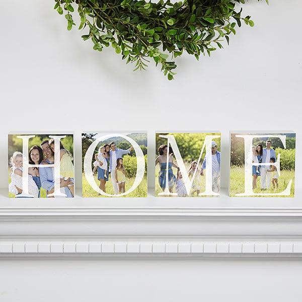 Personalized Photo Shelf Blocks - Home - 16687