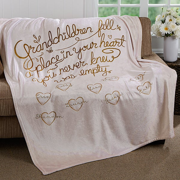 Personalized Grandparents Blankets - Grandchildren Fill Our Hearts - 16692