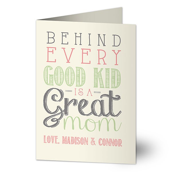 Personalized Mom Greeting Card - Loving Words To Her - 16694