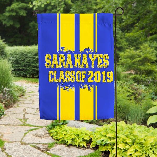 Personalized Graduation Garden Flag - School Spirit! - 16720