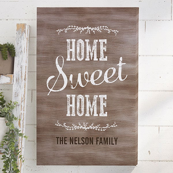 Home Sweet Personalized Canvas