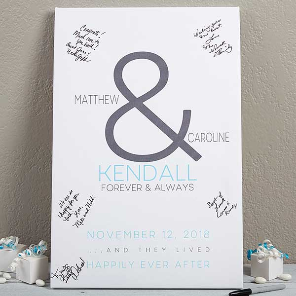 Custom Wedding Guest Book Canvas Print - 16731